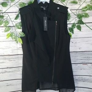 NWT Kenneth Cole The Cassidy Vest black sz Small